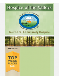 Hospice of the Valleys – February Newsletter 2015