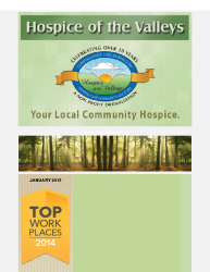 Hospice of the Valleys – January Newsletter 2015