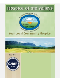 Hospice of the Valleys – July Newsletter 2016