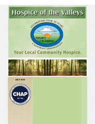 Hospice of the Valleys – July Newsletter 2015