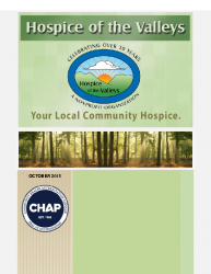 Hospice of the Valleys – October Newsletter 2015