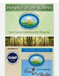 Hospice of the Valleys – September Newsletter 2015