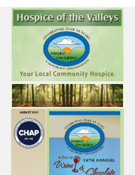 Hospice of the Valleys – August Newsletter 2015