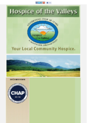 Hospice of the Valleys – December Newsletter 2016
