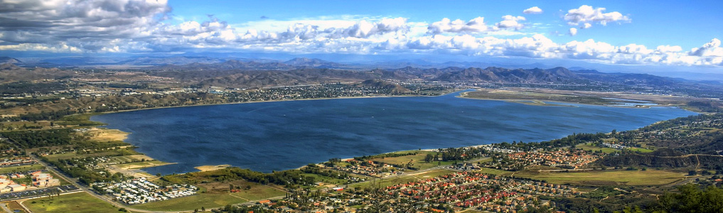 Pretty view of Lake Elsinore