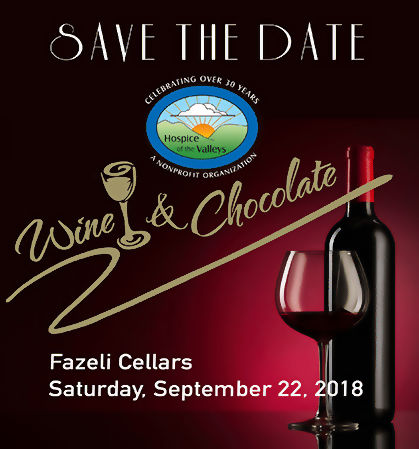 Save The Date - Wine & Chocolate - Fazeli Cellars - Saturday, September 22, 2018