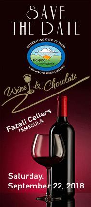 Save the Date - Wine & Chocolate - Fazeli Cellars Temecula - Saturday, September 22, 2018