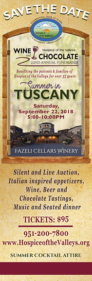 Save the Date - Fazeli Cellars Winery - Saturday September 22, 2018 5:00 - 10:00 PM